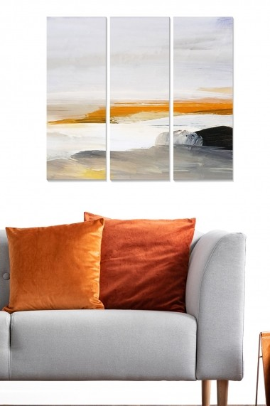 Tablou decorativ (set 3 piese) Bianca 553BNC1338 multicolor