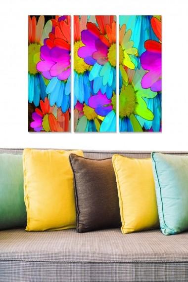 Tablou decorativ (set 3 piese) Bianca 553BNC1348 multicolor