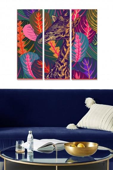 Tablou decorativ (set 3 piese) Bianca 553BNC1361 multicolor