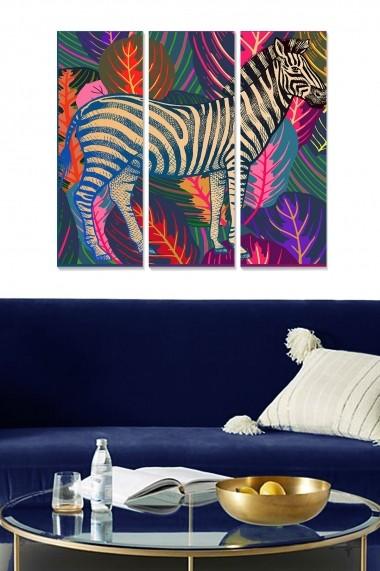 Tablou decorativ (set 3 piese) Bianca 553BNC1362 multicolor