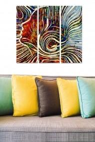 Tablou decorativ (set 3 piese) Bianca 553BNC1366 multicolor