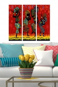 Tablou decorativ (set 3 piese) Bianca 553BNC1367 multicolor