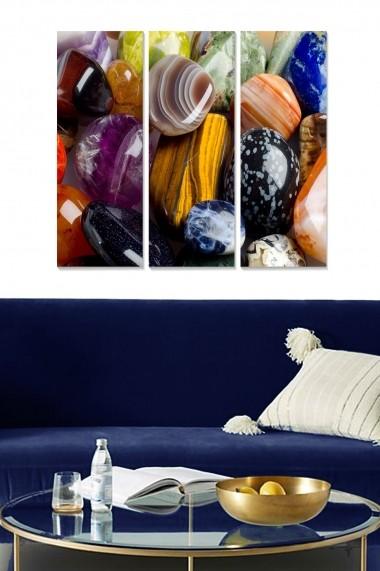 Tablou decorativ (set 3 piese) Bianca 553BNC1368 multicolor