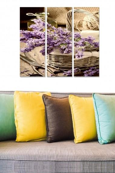Tablou decorativ (set 3 piese) Bianca 553BNC1371 multicolor
