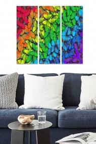 Tablou decorativ (set 3 piese) Bianca 553BNC1374 multicolor