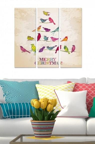Tablou decorativ (set 3 piese) Bianca 553BNC1375 multicolor