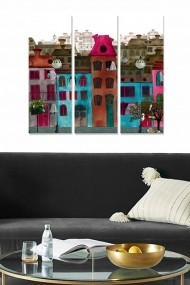 Tablou decorativ (set 3 piese) Bianca 553BNC1393 multicolor