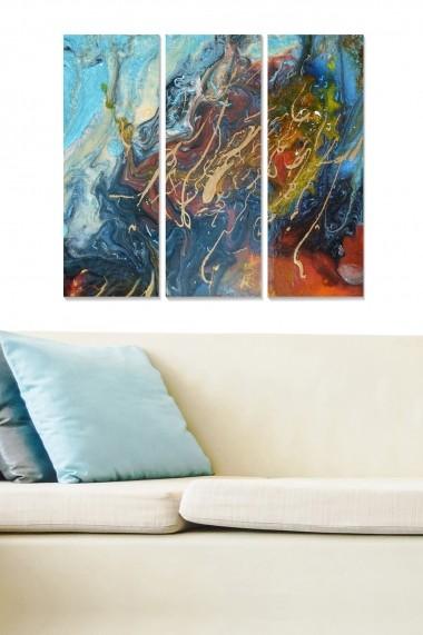 Tablou decorativ (set 3 piese) Bianca 553BNC1399 multicolor
