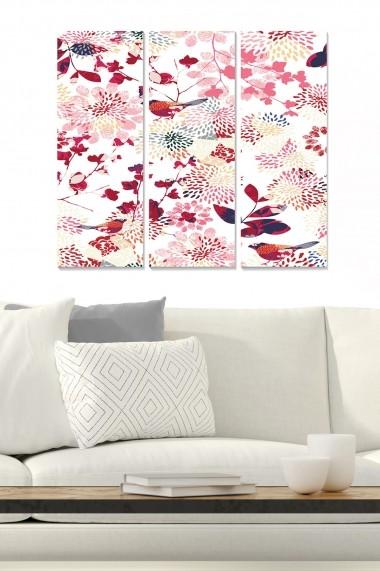 Tablou decorativ (set 3 piese) Bianca 553BNC1405 multicolor