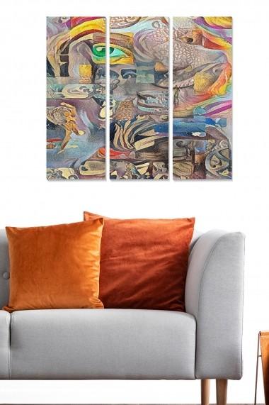 Tablou decorativ (set 3 piese) Bianca 553BNC1411 multicolor