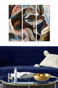 Tablou decorativ (set 3 piese) Bianca 553BNC1437 multicolor