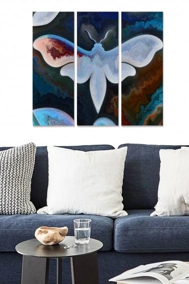 Tablou decorativ (set 3 piese) Bianca 553BNC1438 multicolor
