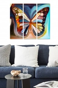 Tablou decorativ (set 3 piese) Bianca 553BNC1440 multicolor