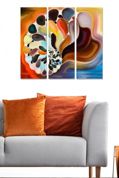 Tablou decorativ (set 3 piese) Bianca 553BNC1441 multicolor