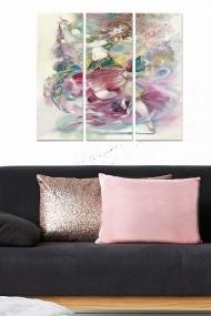 Tablou decorativ (set 3 piese) Bianca 553BNC1453 multicolor