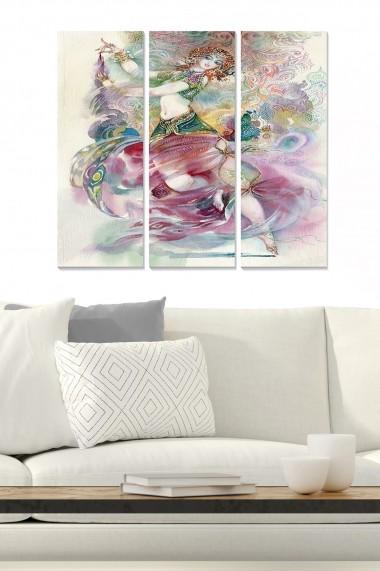 Tablou decorativ (set 3 piese) Bianca 553BNC1454 multicolor