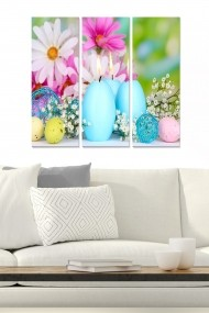 Tablou decorativ (set 3 piese) Bianca 553BNC1460 multicolor