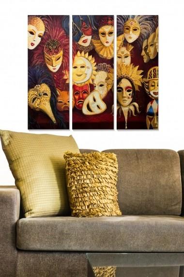 Tablou decorativ (set 3 piese) Bianca 553BNC1462 multicolor