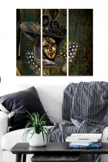 Tablou decorativ (set 3 piese) Bianca 553BNC1473 multicolor