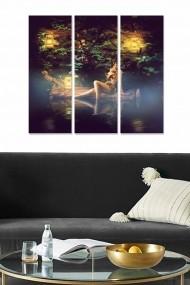 Tablou decorativ (set 3 piese) Bianca 553BNC1477 multicolor