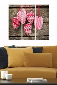 Tablou decorativ (set 3 piese) Bianca 553BNC1483 multicolor