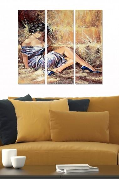 Tablou decorativ (set 3 piese) Bianca 553BNC1503 multicolor