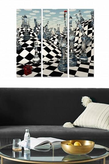 Tablou decorativ (set 3 piese) Bianca 553BNC1510 multicolor