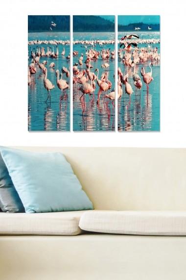 Tablou decorativ (set 3 piese) Bianca 553BNC1514 multicolor
