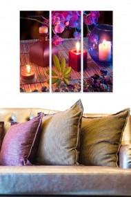Tablou decorativ (set 3 piese) Bianca 553BNC1522 multicolor
