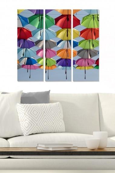 Tablou decorativ (set 3 piese) Bianca 553BNC1527 multicolor