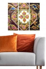 Tablou decorativ (set 3 piese) Bianca 553BNC1533 multicolor