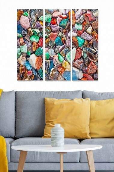 Tablou decorativ (set 3 piese) Bianca 553BNC1548 multicolor