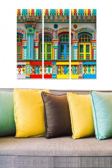 Tablou decorativ (set 3 piese) Bianca 553BNC1567 multicolor