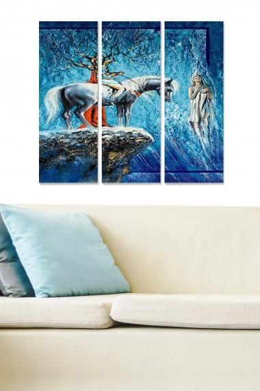 Tablou decorativ (set 3 piese) Bianca 553BNC1578 multicolor