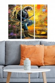 Tablou decorativ (set 3 piese) Bianca 553BNC1579 multicolor