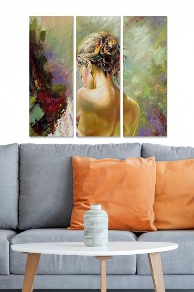 Tablou decorativ (set 3 piese) Bianca 553BNC1580 multicolor