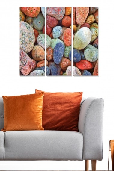 Tablou decorativ (set 3 piese) Bianca 553BNC1588 multicolor