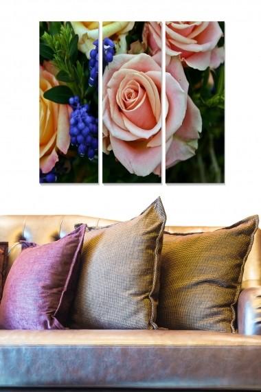 Tablou decorativ (set 3 piese) Bianca 553BNC1617 multicolor