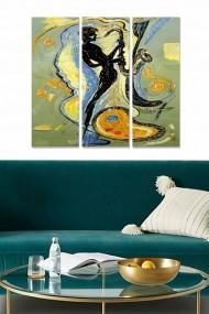 Tablou decorativ (set 3 piese) Bianca 553BNC1637 multicolor