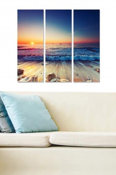 Tablou decorativ (set 3 piese) Bianca 553BNC1639 multicolor