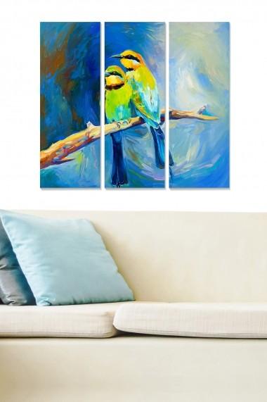 Tablou decorativ (set 3 piese) Bianca 553BNC1648 multicolor