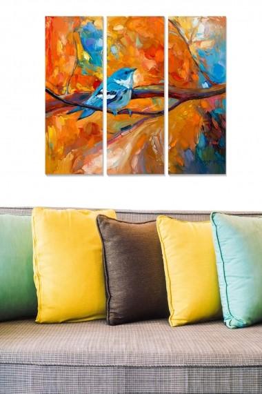 Tablou decorativ (set 3 piese) Bianca 553BNC1649 multicolor