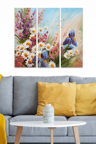 Tablou decorativ (set 3 piese) Bianca 553BNC1658 multicolor
