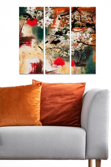 Tablou decorativ (set 3 piese) Bianca 553BNC1663 multicolor