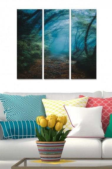 Tablou decorativ (set 3 piese) Bianca 553BNC1665 multicolor