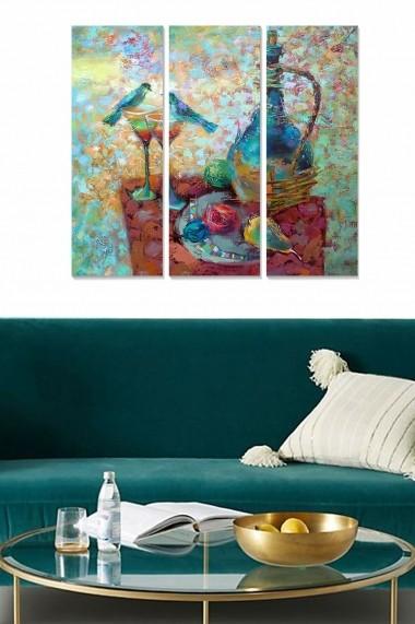 Tablou decorativ (set 3 piese) Bianca 553BNC1666 multicolor