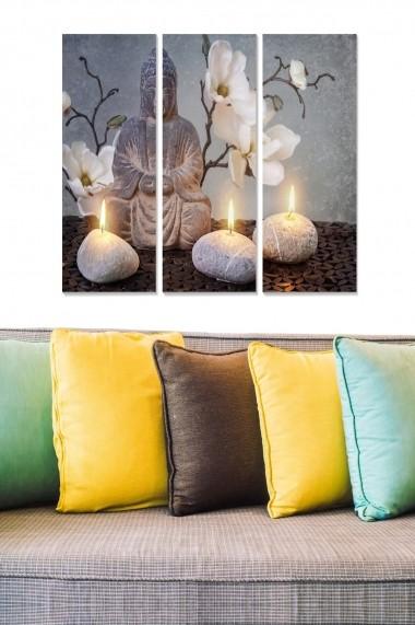 Tablou decorativ (set 3 piese) Bianca 553BNC1675 multicolor