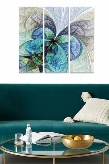 Tablou decorativ (set 3 piese) Bianca 553BNC1687 multicolor