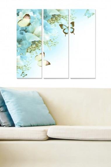 Tablou decorativ (set 3 piese) Bianca 553BNC1703 multicolor