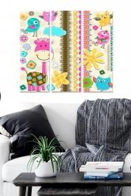 Tablou decorativ (set 3 piese) Bianca 553BNC1705 multicolor